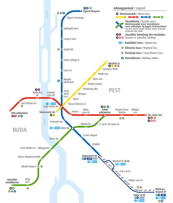 metro map Budapest