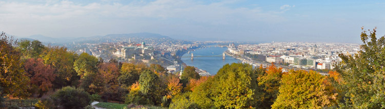 view from gellert hill